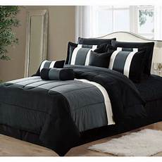11 piece oversized black gray comforter bedding with sheet king size walmart com