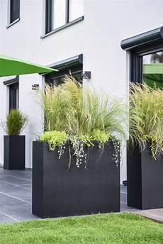 Sichtschutz Terrasse Pflanzkübel - elemento terrasse und balkon mit pflanzk 252 beln gestalten