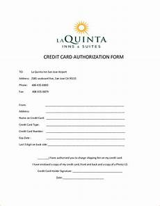 10 credit card authorization form template free download