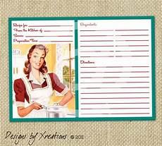 5x7 recipe card template free retro blank recipe card digital template 5x7 by pinkpapertrail
