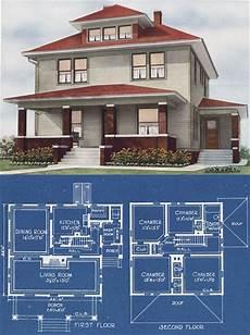 modern foursquare house plans midwestern foursquare modern prairie box 1921 c l bowes