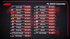 Formula 1 On Quot Icymi Race Calendar 2019 21 Races