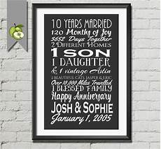 10th Wedding Anniversary Gift For Husband