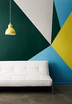 a stunning apartment with colorful geometric 7 clever ways to color block your home wall design wall