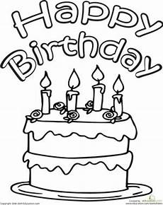 birthday cake worksheet 20213 color the happy birthday cake coloring pages coloring and kindergarten