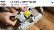 wasser in spülmaschine siemens geschirrsp 252 ler zieht kein wasser aquastop