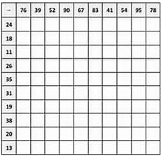 subtraction worksheets with grid lines 10162 subtraction tables charts squares