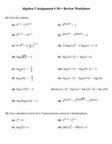 algebra 1 review worksheets 8568 algebra 3 review worksheet assignment 4