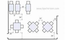 Restaurant Table Aisle Spacing Drawing Plan View Cafe