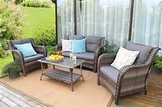 baner garden n76 resin wicker outdoor patio furniture 4 piece conversation sectional steel