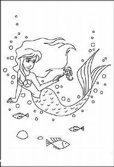 Meerjungfrauen Malvorlagen Gratis Ausmalbilder Meerjungfrau Gratis Ausmalbilder