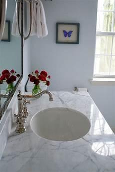 white marble countertop transitional bathroom benjamin seafoam teresa