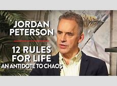 jordan peterson 12 rules book