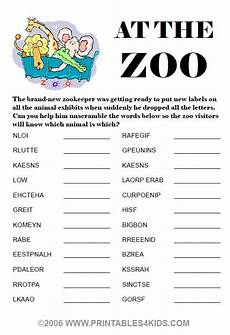 at the zoo word scramble printables for kids free word