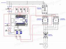 electrical wiring diagram forward motor control and power circuit using mitsubishi plc