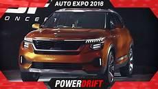 2018 Kia Sp Compact Suv Autoexpo India S Kia