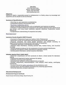 resume objective exles for phlebotomy phlebotomy resume includes skills experience educational background as well as award of the