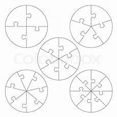 puzzle vorlagen kreis vektorgrafik colourbox