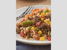 Beefy Rice Skillet   Recipe in 2020   Ground beef recipes