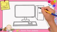 Comment Dessiner Un Ordinateur Facile Etape Par Etape Pour