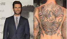 adam levine reveals his huge new back tattoo one country