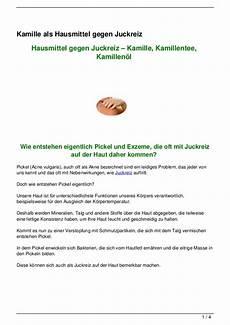 Hausmittel Gegen Juckreiz - kamille als hausmittel gegen juckreiz