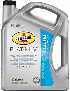 Pennzoil Platinum Synthetic 5w30 Motor With