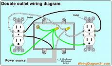 double outlet box wiring diagram in the middle of a run in one box in 2020 outlet wiring