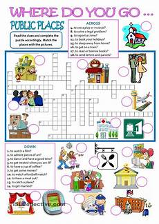 places worksheets 15930 places where do you go educacion ingles ingles ni 241 os fichas ingles