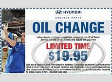 Hyundai Oil Change Coupons   Free & printable discounts