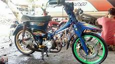 Warna C70 by Honda C70 Modif Warna Biru Honda C70 Blue Modif