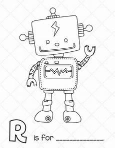 free printable robot workbook robots drawing printables