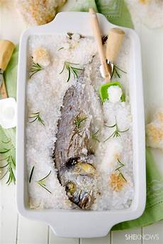 Salt Crusted Baked Whole Fish