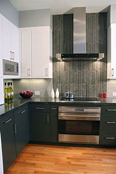 Contemporary Kitchen Backsplash Contemporary Kitchen Vertical Tiles Are A Accent