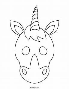 unicorn mask to color masken basteln kinder einhorn