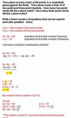 system of equations word problems repinned by chesapeake college ed free classes the