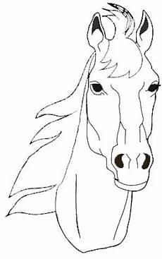 Malvorlagen Pferdekopf Pferdekopf Malvorlage Kopf Pferd Ausmalbild