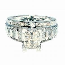princess cut diamond wedding ring 3 in 1 engagement