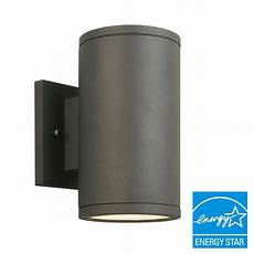 home decorators collection black led outdoor wall lantern