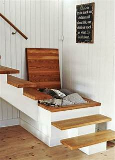 Stauraum Idee Selber Bauen Holz Home Sweet Home Treppe