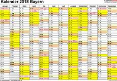Kalender 2018 Bayern Ferien Feiertage Excel Vorlagen