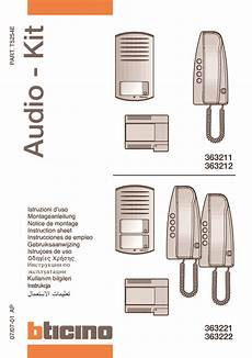 bticino 363221 2 way analogue audio kit bticino 363221 2 way linea 2000 analogue audio door entry kit
