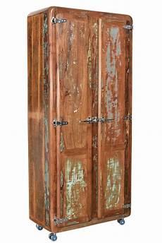 kleiderschrank braun kleiderschrank braun bunt lackiert aus altholz im used look