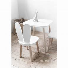 mobilier bébé design chaises et table enfant lapin blanc am 233 lie chaise