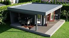 modernes gartenhaus mit terrasse hansa lounge xl 15m 178
