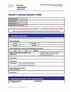change request form template