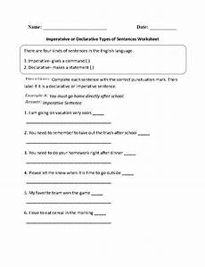 grammar worksheets types of sentences 24993 imperative or declarative types of sentences worksheet englishlinx board