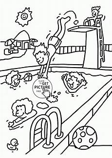 Ausmalbild Sommer Baden Summer Printable Coloring Pages Coloring Home