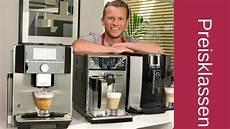 kaffeevollautomaten nach preisklassen was muss ich