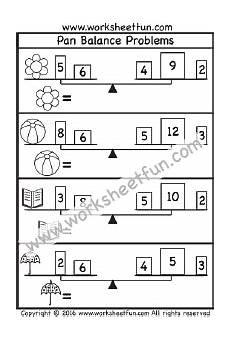 pan balance problems one worksheet stabili